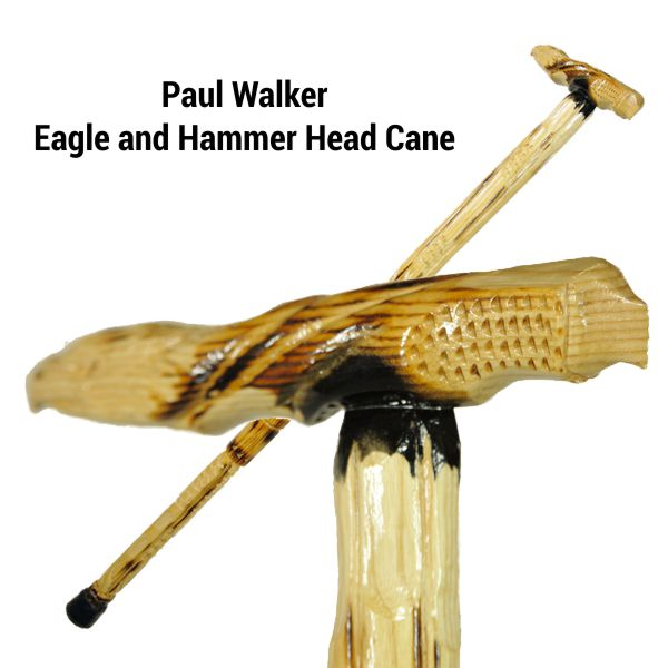 Paul Walker Eagle and Hammer Head Cane-35""