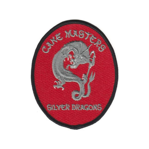 Silver Dragons Embroidered Patch