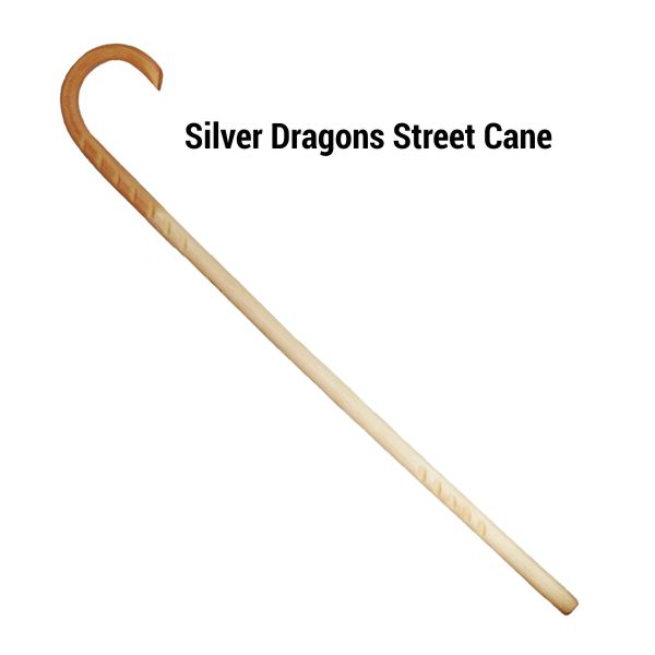 Silver Dragons Street Walking Cane